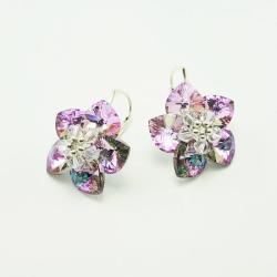 Morning Flowers - plecione kolczyki Swarovski - Kolczyki - Biżuteria