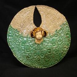 aniołek,gwiazdka,turkus,prezent - Ceramika i szkło - Wyposażenie wnętrz