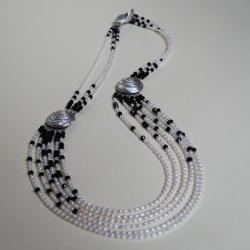 duży,nietuzinkowy,nitza,efektowny,perły - Naszyjniki - Biżuteria