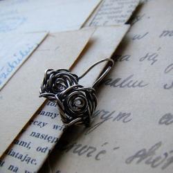 srebro,delikatne,kobiece,romantyczne,eleganckie - Kolczyki - Biżuteria