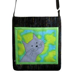 kot,kocur,prezent,torba,szkoła - Na ramię - Torebki