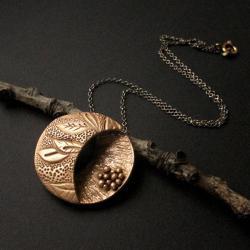 brąz,wisior,dwustronny,fiann - Wisiory - Biżuteria
