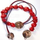 Naszyjniki jesienny,czerwony,subtelny,ciekawy