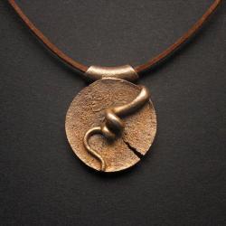 wisior z brązu,fiann,anna fidecka - Wisiory - Biżuteria