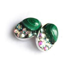 kolczyki,zielone,filigranowe,lekkie,sztyfty, - Kolczyki - Biżuteria