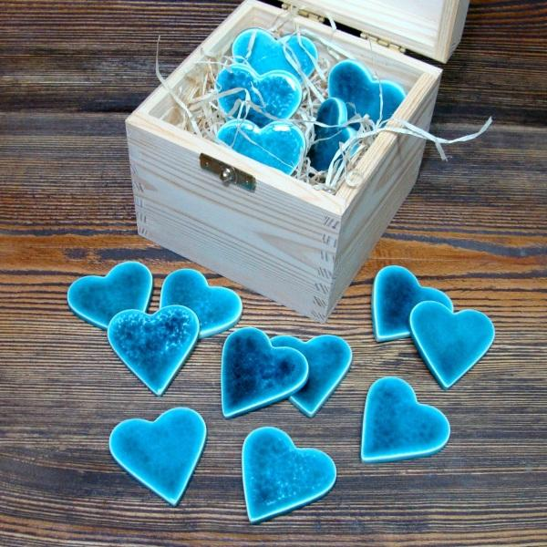 romantyczne serduszka turkusowe magnesy magnesy na lod wk wyposa enie wn trz w arsneo. Black Bedroom Furniture Sets. Home Design Ideas