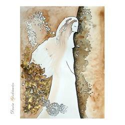 anioł,kobieta,skrzydła,grafika,na ścianę,wnętrze - Ilustracje, rysunki, fotografia - Wyposażenie wnętrz