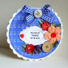Kartki okolicznościowe dziadek,życzenia,kwiaty,okrągła,serce