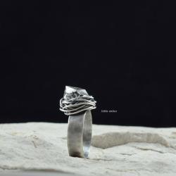 srebro,oksydowane,herkimer - Pierścionki - Biżuteria