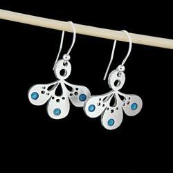 Swarovski,niebieskie,turkusowe,srebrne,delikatne - Kolczyki - Biżuteria