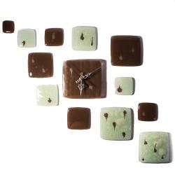 zegar szklany design glamour art prezent święta - Ceramika i szkło - Wyposażenie wnętrz