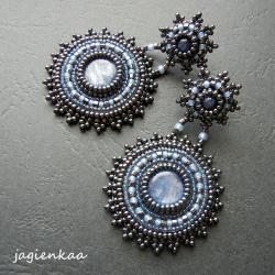 elegancki,unikalny,haft koralikowy - Kolczyki - Biżuteria