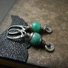 Kolczyki kolczyki,srebro,oksydowane,amazonit,zielone