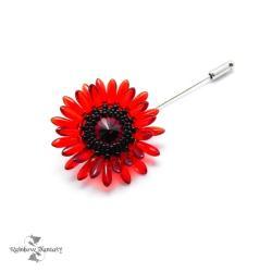 romantyczna,kwiatowa,elegancka,retro,mak - Broszki - Biżuteria