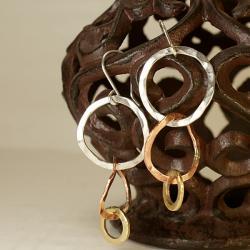 kolczyki,srebro,miedź,mosiądz,biżuteria damska - Kolczyki - Biżuteria