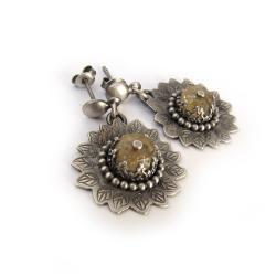 oryginalne,wkaitowe,lutowane,słoneczniki, - Kolczyki - Biżuteria