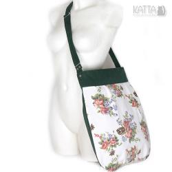 flower bag,w kwiaty,kwiatowa,zielona,na lato - Na ramię - Torebki