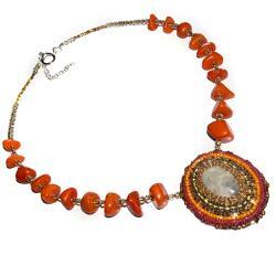 haft koralikowy toho wisior - Naszyjniki - Biżuteria