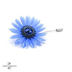 romantyczna,kwiatowa,elegancka,retro,chabrowa - Broszki - Biżuteria