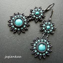 elegancki,etniczny,haft koralikowy - Kolczyki - Biżuteria
