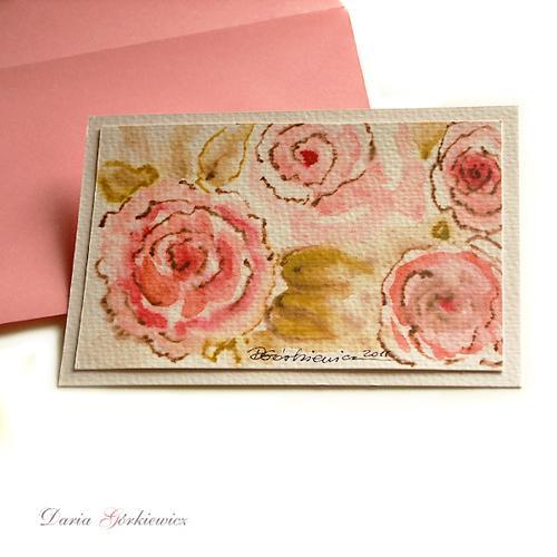 a8d3d5830d86f1 Kartki okolicznościowe podziękowanie kartka,kwiaty,róże,różowa,prezent ...