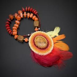 haft koralikowy,naszyjnik,haft - Wisiory - Biżuteria