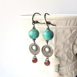 orientalne,kolorowe,wiszące,indyjskie - Kolczyki - Biżuteria