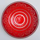 Ceramika i szkło patera,misa,szkło,fusing,na stół,czerwień
