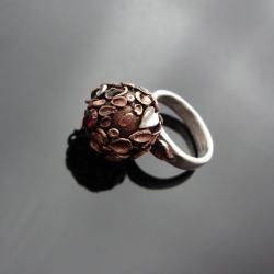 brąze clay,art clay,listki,srebro,pierścień - Pierścionki - Biżuteria