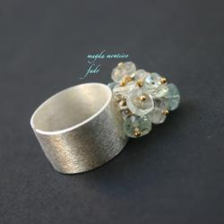 srebro,akwamaryn,pierścionek,fado - Pierścionki - Biżuteria