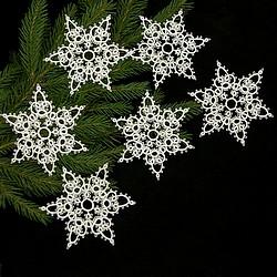 frywolitka,koronka,śnieżynki,gwiazdki - Inne - Wyposażenie wnętrz