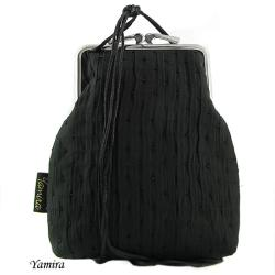 czarna,klasyczna,elegancka,bigiel,z biglem - Na ramię - Torebki