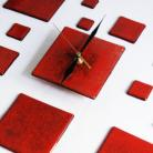 Zegary czerwony zegar do kuchni design glamour art