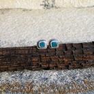 Kolczyki kolczyki drobniutkie,niebieskie,morskie