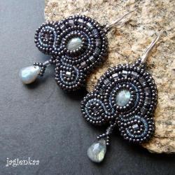 elganckie,efektowne,haft koralikowy - Kolczyki - Biżuteria