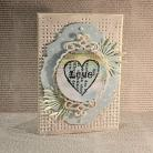 Kartki okolicznościowe kartka,scrapbooking,Walentynki,serce,miłość