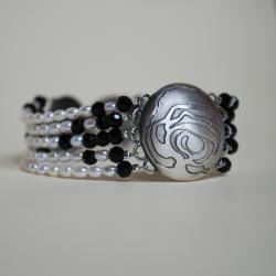 nietuzinkowa,nitza,efektowna,perły - Bransoletki - Biżuteria