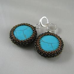 Zamiast słonecznych plaż - plecione kolczyki - Kolczyki - Biżuteria