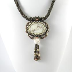 beading,wisior,howlit,orient, - Wisiory - Biżuteria