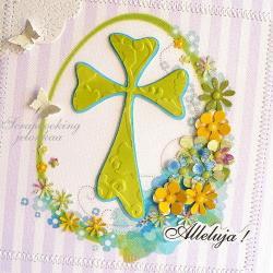 wielkanoc,krzyż,jajko,kwiaty,motyl,wiosna,święta - Kartki okolicznościowe - Akcesoria