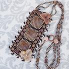 Naszyjniki haft koralikowy,kwiat,elegancki,stonowany,
