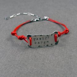 talizman,bransoletka,srebro,rzemienie - Bransoletki - Biżuteria
