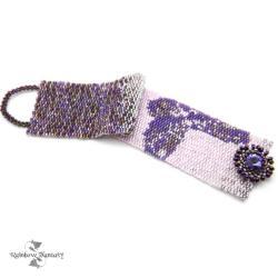 elegancka,wiezorowa,na wyjście,fioletowa - Bransoletki - Biżuteria