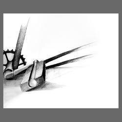 rower,na ścianę,grafika,rysunek,męski,wnętrze, - Ilustracje, rysunki, fotografia - Wyposażenie wnętrz