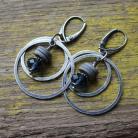 Kolczyki kolczyki srebro koła bali swarovski kryształ
