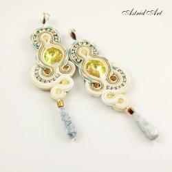 delikatne kolczyki sutasz ze Swarovskim - Kolczyki - Biżuteria