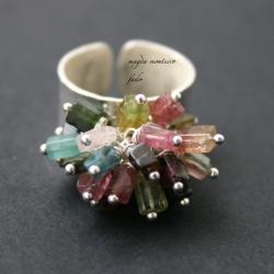 srebro,pierścionek,fado,turmalin - Pierścionki - Biżuteria
