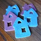 Magnesy na lodówkę błekitne,wrzosowe,domki,