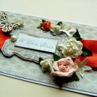 Kartki okolicznościowe ślub,życzenia,kwiaty,para młoda,motyle,perły