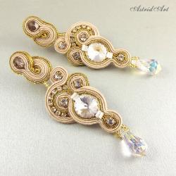 ślubne kolczyki sutasz,Swarovski - Kolczyki - Biżuteria